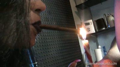 6810 - DAEMONAS SMOKING FETISH AND NIPPLE PLAY