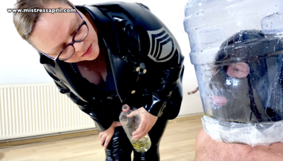 130875 - Dominatrix Mistress April - Slave in the Bottle