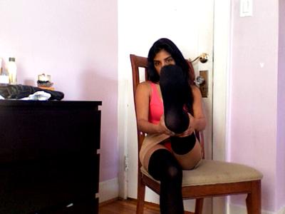 5182 - Black Thigh High Stockings Tease