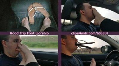 93623 - Road Trip Foot Worship