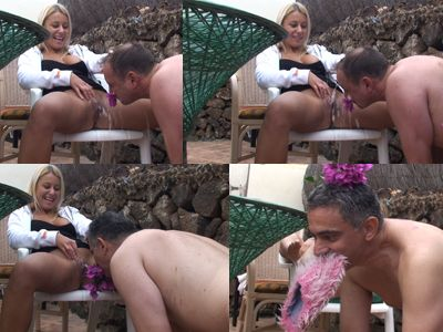 Princess Nikki treats slave like dog