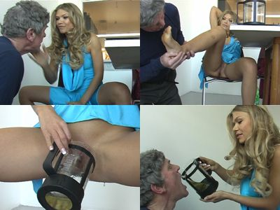 18737 - Miss Alysha Blue Dress Humilation
