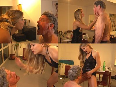 Lady Alysha spits and pisses