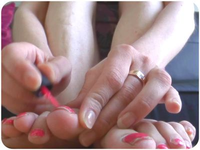 13258 - Painting Her Toenails Red