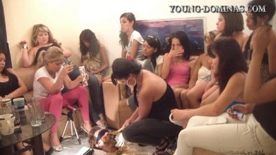 14467 - 14 Girls and a Floor Level Toilet Slave Part 6