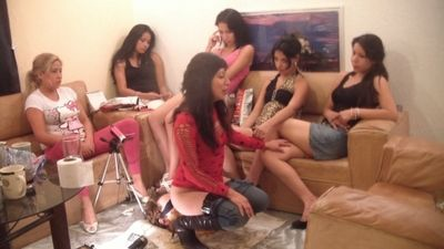 15257 - 14 Girls and a Floor Level Toilet Slave Part 15