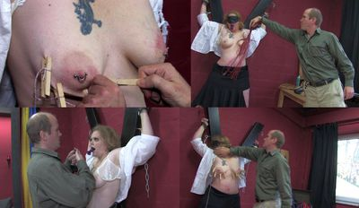 44395 - Humiliation and caning of the slave girl