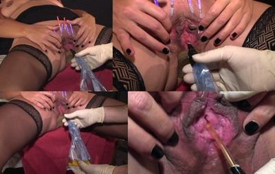 45068 - The catheter tubing in the slave's twat