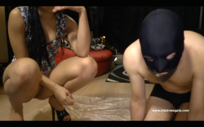 38791 - MISTRESS GAIA - FEEDS HER SLAVE