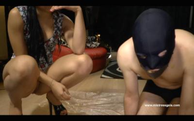 38791 - MISTRESS GAIA - FEEDS HER SLAVE