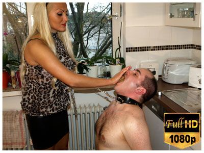 177 - Lady Pam punishes her lazy slave