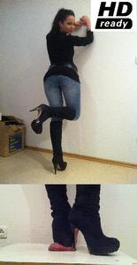 6326 - Buffalo plateau boots vs my slave!