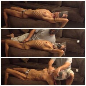 28926 - Skinny Topless Stretched & Bagged HARD