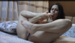 She loves to masturbate and to lick her sexy feet