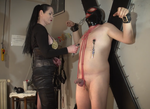 CBT and nipple torture on the cross