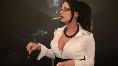 56874 - Smoking Sexy Secretary