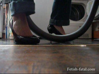 48843 - Carole vacuuming in high heels, sexy ...