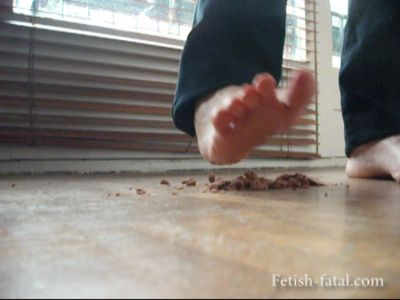 49119 - Miss Claire crushes a cake with her feet