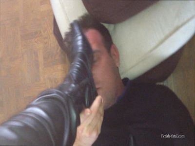 49663 - She's kicking her husband with boots .... POV