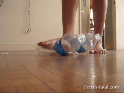 50202 - It destroyed two water bottles with beautiful bare feet !!!