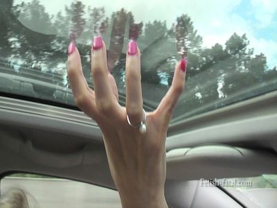 50551 - Driving on a French motorway with superb hands that hold the wheel