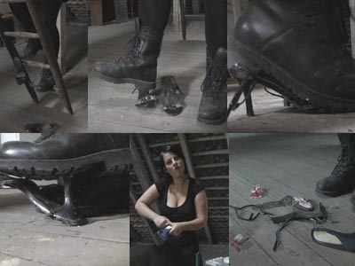 52190 - Crushing Heeled Sandals With Jackboots / Video#4