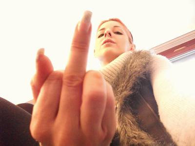 80665 - I know you love my middle finger ...!