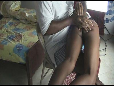 60593 - Black girl booty brutally punished OTK
