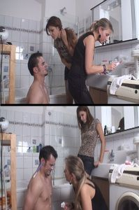 65768 - Girls spitting and humiliating their boy