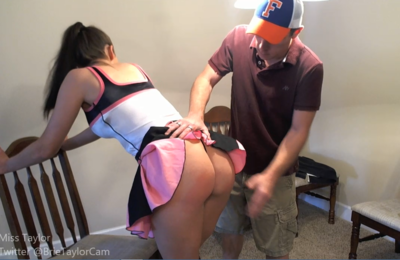 81383 - Cheerleader gets Spanked