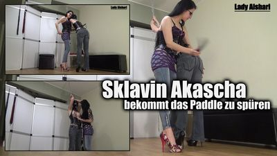 94900 - Slave Girl Akasha Gets To Know The Paddle