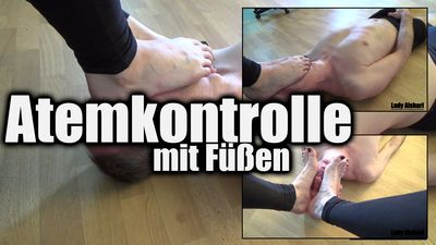 95480 - Foot Over Mouth Smothering: Breathcontrol With Mistress's Feet