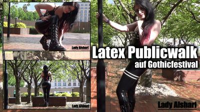 96827 - Public Walk In Latex On A Gothic Festival