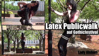 96827 - Public Walk In Latex On A Gothic Festival
