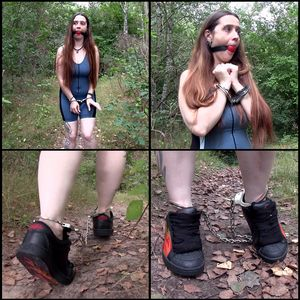 109523 - I walk around in cuffs in the wood
