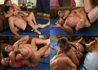 79103 - MUCH STRONGER THAN HIM ! - HEADLOCKS