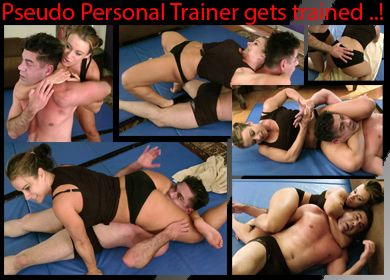 60793 - PSEUDO PERSONAL TRAINER GETS TRAINED - Perverted Trainer Steve Gets Ass Whooped!
