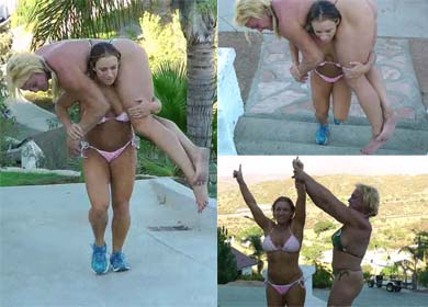 64872 - OUTDOOR LIFT AND CARRY CHALLENGE ! - KASIE VS JENNIFER - CLIP 03