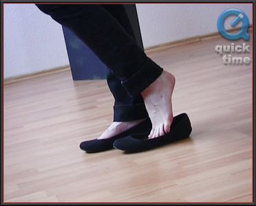 29145 - Carmen - Black Cotton Ballerinas