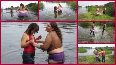 104056 - swimming in the river with a friend