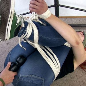 109571 - Do you feel the massager between your legs on your jeans?