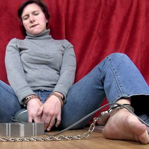 109586 - Getting an orgasm cuffed and smoking using massager