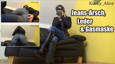 111287 - Jeans-Ass, Leather and Gasmask