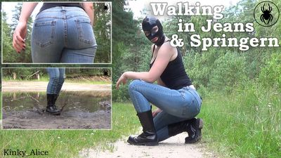 112810 - Walking with jeans and springer boots