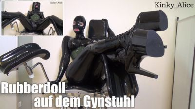 114742 - Dominant Rubberdoll on the Gyn Chair