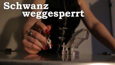 140121 - Schwanz weggesperrt - Cock locked away