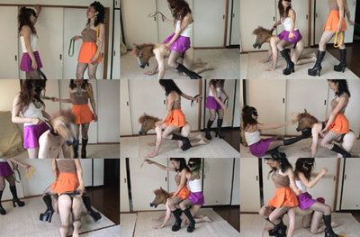 7279 - Queen Ayumi and Queen Momoko's Extra Long Ride on Horse Slave Loser