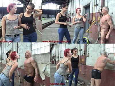 155838 - Lady Anna Solis and Princess Rachel humilate a bum