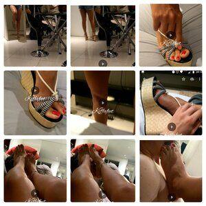163124 - Kiffa First Amateur Footjob video with Kiffa orgasm - Client Foot worship Goddess Kiffa feet until she had an orgasm and win a footjob  FJ 08