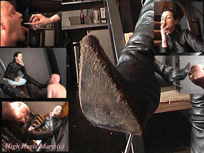 10637 - Part 1 Dirty boots licking, human ashtray training and face slapping the slave